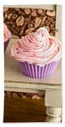 Pink Cupcakes Bath Towel