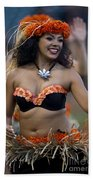 Polynesian Dancers Bath Towel