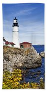 Portland Head Lighthouse Bath Towel