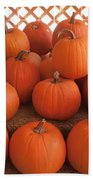 Pumpkins On Pumpkin Patch Bath Towel
