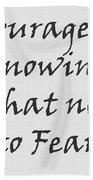 Quote Bath Towel