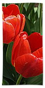 Radiant In Red - Tulips Bath Towel