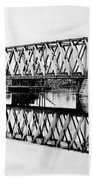 Railroad Bridge Red River Hand Towel