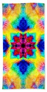 Rainbow Light Mandala Bath Towel