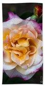 Raindrops On Rose Flower Bath Towel