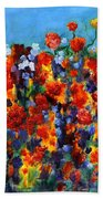Red And Blue Bath Towel