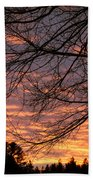 Red Sky At Night Bath Towel