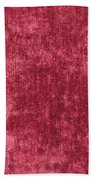 Red Velvet Bath Towel