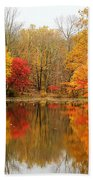 Reflections Of Fall Bath Towel