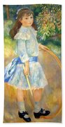 Renoir's Girl With A Hoop Bath Towel