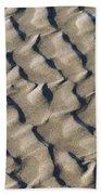 Ripple Pattern On Mudflat At Low Tide Bath Towel