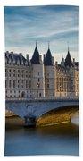River Seine And Conciergerie Bath Towel