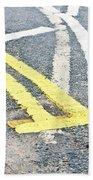Road Markings Bath Towel