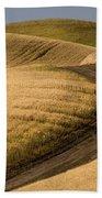 Road Through Wheat Field Bath Towel