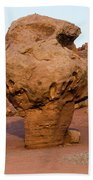Rock Formations In A Desert, Vermilion Hand Towel