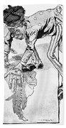 Roosevelt Cartoon, 1905 Hand Towel