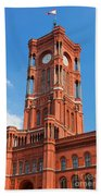 Rotes Rathaus The Town Hall Of Berlin Germany Hand Towel