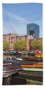 Rotterdam Cityscape In Netherlands Bath Towel