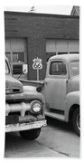 Route 66 Classic Cars Bath Towel