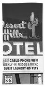 Route 66 - Desert Hills Motel Bath Towel