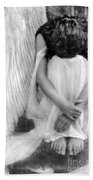 Sad Angel Woman Bath Towel