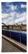 Sage Gateshead And Newcastle Skyline Bath Towel