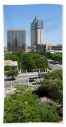 San Antonio Texas Skyline Bath Towel