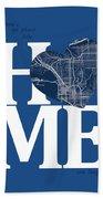 San Diego Street Map Home Heart - San Diego California Road Map  Bath Towel