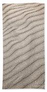 Sand Ripples Abstract Bath Towel