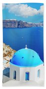 Santorini Island, Greece, Beautiful Bath Towel