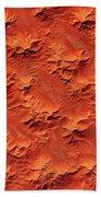 Satellite View Of Murzuk Desert, Libya Bath Towel