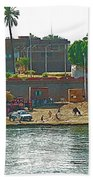 Scene Along Nile River Between Luxor And Qena-egypt  Bath Towel