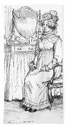 Scene From Pride And Prejudice By Jane Austen Bath Towel