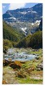 Scenic Valley In New Zealand Bath Towel