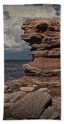 Sea Stack At North Cape On Prince Edward Island Bath Towel