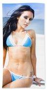 Sexy Tanned Beach Woman Bath Towel