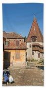 Sighisoara Transylvania Medieval Historic Town In Romania Europe Bath Towel