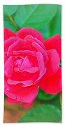 Single Rose Bath Towel