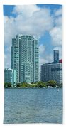 Skylines At The Waterfront, Miami Bath Towel