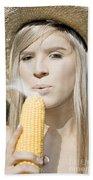 Smoking Hot Corn Cob Woman Bath Towel