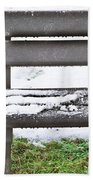 Snow On Bench Hand Towel by Tom Gowanlock