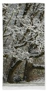 Snow On Trees Bath Towel