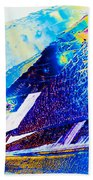 Sodium Thiosulphate Crystals In Polarized Light Bath Towel