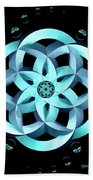 Spirit Of Water 1 - Blue With Water Drops Bath Towel
