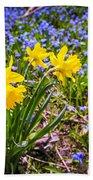 Spring Wildflowers Bath Towel