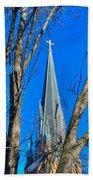 St. Marys Church Steeple Of St Marys Church Bath Towel