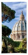 St Peters Basilica Dome Bath Towel