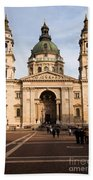 St Stephen's Basilica In Budapest Bath Towel