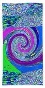 Stool Pie Chart Twirl Tornado Colorful Blue Sparkle Artistic Digital Navinjoshi Artist Created Image Bath Towel