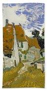 Street In Auvers-sur-oise Bath Towel